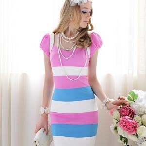 Women Purple Sleeveless Fashion Dre..