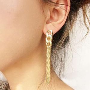 Gold Plated Long Tassel Drop Alloy ..