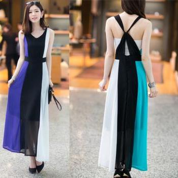 Summer 2 colors  bohemian maxi long dress