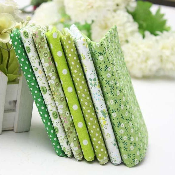 7pcs floral fabric squares set
